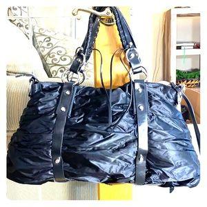 💕Francesco biasia black nylon/poly XL bag 💕